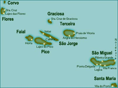Azores - Portugal map azores