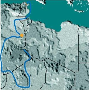 Hanno's possible route according to Sarantitis